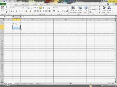 สอนการใช้Microsoft Excel 2010 EnterData ตอนที่2