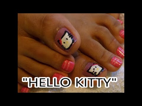 Decoracion de u as de los pies hello kitty nail art - Decoracion de unas colombianas ...