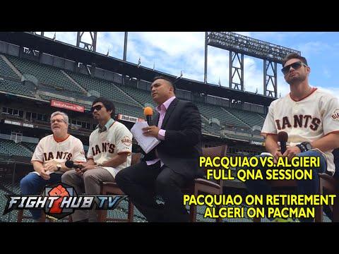 Manny Pacquiao vs Chris Algieri Full QnA session Pacman on retirement