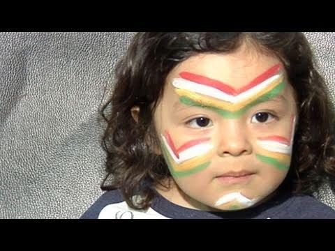 maquillage des enfants indiens youtube. Black Bedroom Furniture Sets. Home Design Ideas
