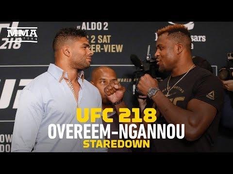 UFC 218: Alistair Overeem vs. Francis Ngannou Staredown - MMA Fighting