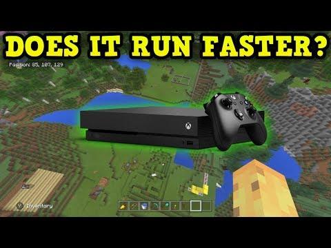 Minecraft Xbox One X vs Xbox One S Performance Review