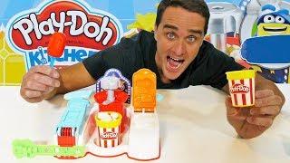 Play Doh Popcorn & Popsicle Movie Snacks Playset !    Toy Review    Konas2002
