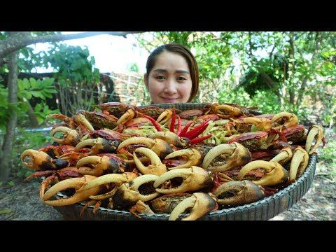 Yummy Rice Crab Feroniella Lucida Cooking Recipe - Yummy Eating Rice Crab - Cooking With Sros