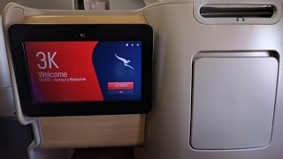 Qantas A330 Business Class Sydney to Melbourne seat 3K in 4K