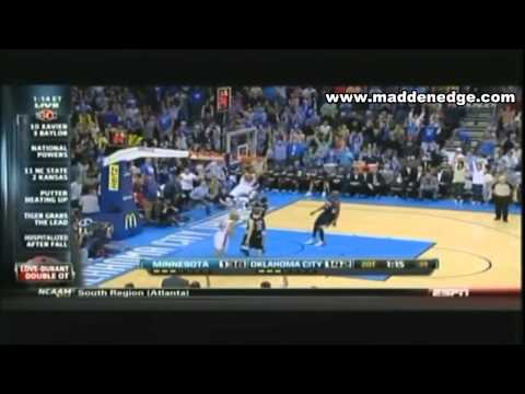 Kevin Love Scores 51 points 14 Rebounds & Seven 3 Pointers! Still Falls To OKC & Durant