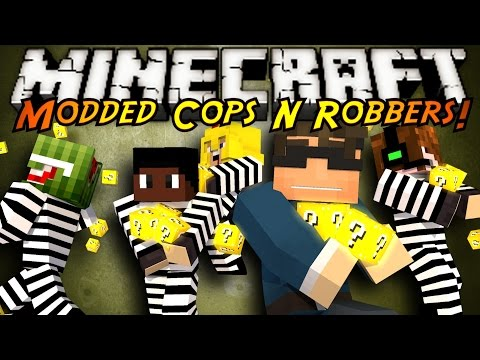 Minecraft Mini Game : MODDED COPS N ROBBERS LUCKY BLOCK
