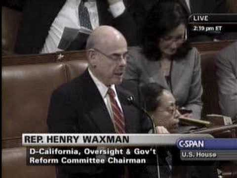 Rep. Waxman On Protecting Children