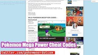 Pokemon mega power gba cheats