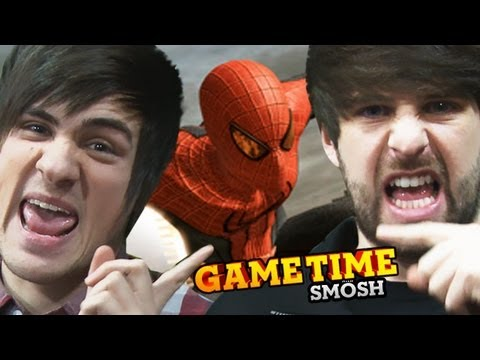 WE SLING SPIDER-MAN'S WEB (Gametime w/ Smosh)
