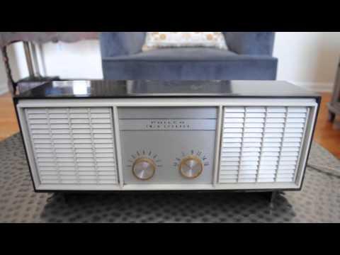1960 Philco Twin Speaker F-234 AM radio (MINT! Serviced)