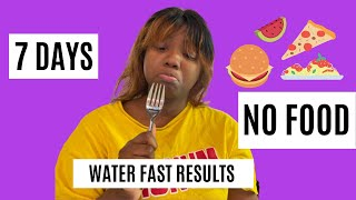 7 DAY WATER FASTING RESULTS | I LOST 20 POUNDS!!