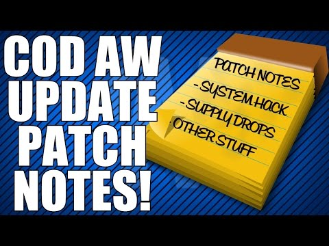 Advanced Warfare: New Update Patch Notes! (System Hack Nerf, and more!)