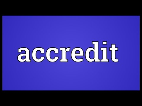 Header of accredit