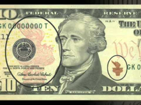 U.S. Government - Bureau of Engraving & Printing - The New Color Of Money - $10 Note - P.S.A