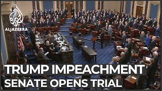 US Senate formally opens Trump impeachment trial