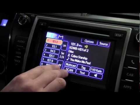 2012 toyota camry hd radio settings how to by toyota city 12 Camry 1989 Toyota Camry MPG