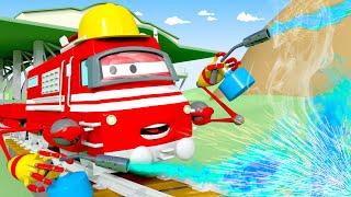 Xe lửa thợ máy - xe lửa Troy 🚉 những bộ phim hoạt hình về xe tải l Vietnamese Cartoons for Kids