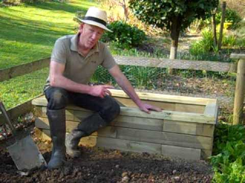 WoodblocX raised bed on the veg. patch