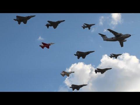 岐阜基地航空祭2014 飛行開発実験団 異機種大編隊・機動飛行 JASDF Gifu Air Show