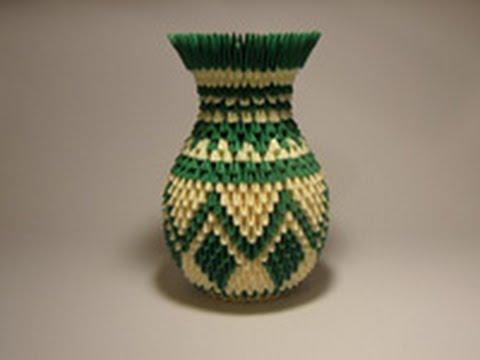 Модульное оригами вазы схемы сборки ваза 5