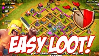 "Clash of Clans ""Easiest Loot!"" Clash of Clans Low Level Let"