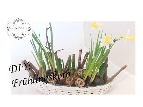 DIY Frühlingskorb selber machen | Frühlingsdekoration
