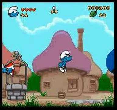 The Smurfs (Les Schtroumpfs) SNES - Act I