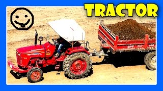 Tractors For Children - Tractor Videos, Tractors Working, Excavator Truck Digging by JeannetChannel