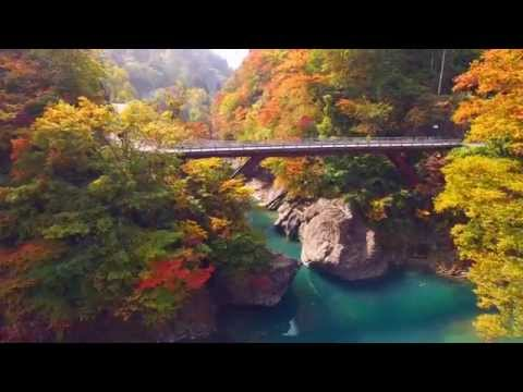 日本の原風景 秘境秋山郷の紅葉 津南町