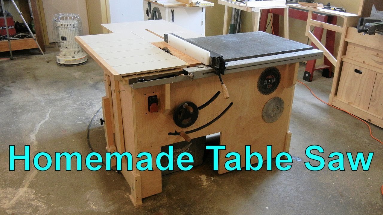 Homemade Table Saw Youtube