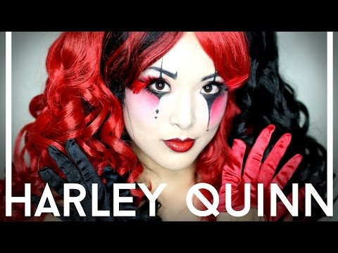 HARLEY QUINN Makeup Tutorial   Halloween 2014