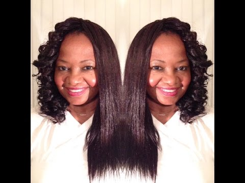 OUTRE XPRESSION DOMINICAN BLOW OUT CROCHET BRAIDS REVIEW PART 2 CURLY STYLE
