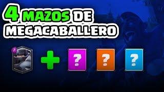 ¡4 MAZOS DE MEGACABALLERO MUY TOP! ¡Elige mi siguiente guía! |  Clash Royale
