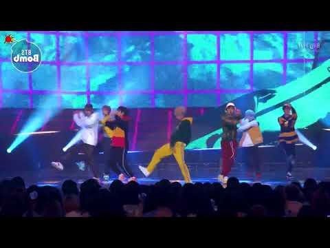bts go go mnet comeback show mirrored
