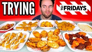 TRYING TGI FRIDAYS FROZEN APPETIZERS! - Chicken Wings, Mozzarella Sticks, & MORE Taste Test!