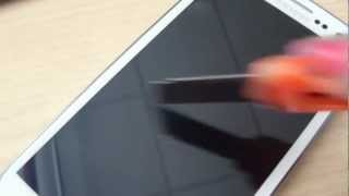 Samsung Galaxy SIII - Screen Scratch Test - Gorilla Glass 2
