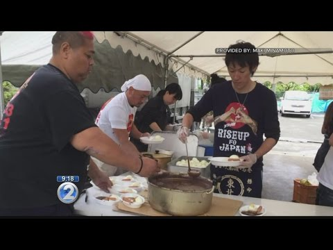 Konishiki and wife provide needed supplies, meals to Japan earthquake victims