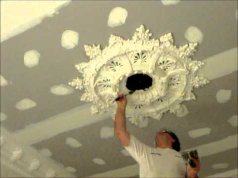 Large Ceiling Rose Installation ~ Hawthorn Plaster Repairs