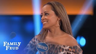 Get your NOSE out of THERE! | Celebrity Family Feud | OUTTAKE