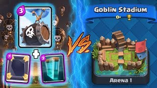 Clash Royale | SKELETON BARREL + CLONE TROLLING ARENA 1! | *FUNNY MOMENTS* (Drop Trolling #59)