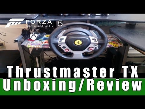 ThrustMaster TX Racing Wheel / Ferrari 458 Italia Edition Unboxing/Review/First Drive (Xbox One)