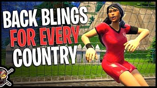 Back Blings For Every Country In Fortnite - Futbol/Soccer Outfits | World Cup