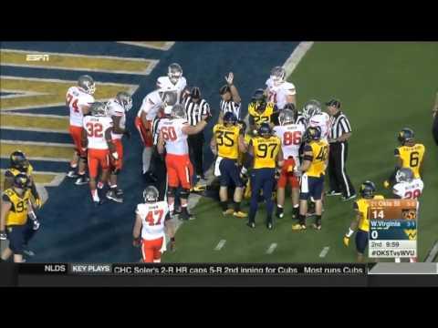 Oklahoma State at West Virginia   2015 Big 12 Football Highlights