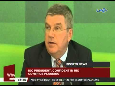 IOC president, confident in Rio Olympics planning