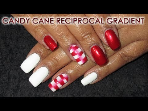 Candy Cane Reciprocal Gradient | 12 Days of Christmas Nail Art | DIY Tutorial