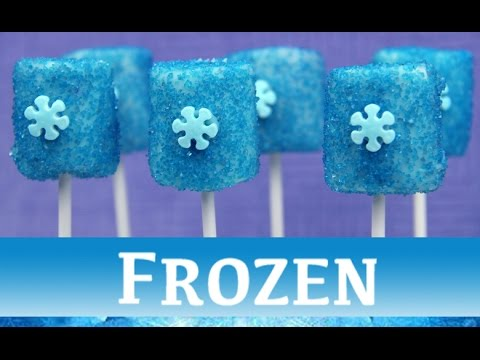 FROZEN MALLOW POPS!  Disney movie s'mores party treat - marshmallow pops - princess Elsa