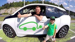 Funny Baby & Power Wheels Car BMWi3 Our Car was Stolen Nursery Rhymes for Toddlers Children