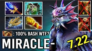This is How Miracle- Pro Slardar Scepter Make Top Rank Enemy Rage - Smurf Acc Super Bash 7.22 Dota 2