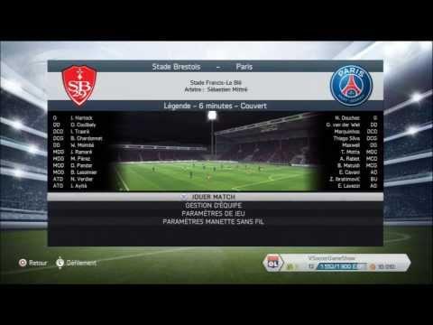Stade Brestois - Paris Saint-Germain [FIFA 14] | Coupe de France (1/32ème de Finale) | CPU Vs. CPU